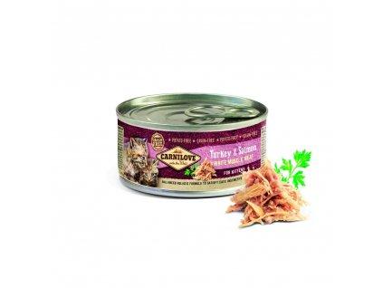 18642 konzerva carnilove wmm turkey salmon for kittens 100g