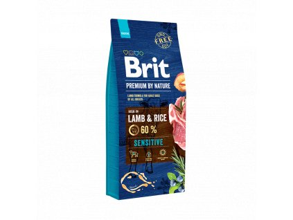 18726 brit premium by nature sensitive lamb 15kg