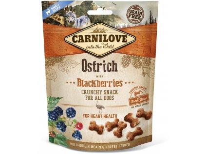 18771 1 kapsicka carnilove dog crunchy snack ostrich blackberry and fresh meat 200g