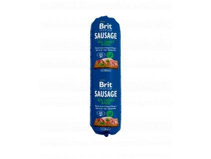 18801 brit sausage turkey pea 800g