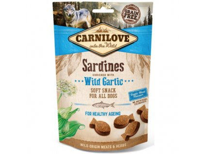19686 carnilove dog sardines with garlic 200g
