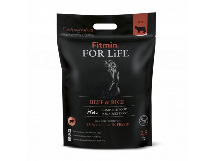 19917 fitmin dog for life beef rice 2 5kg