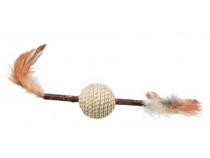 HračkaTrixie žuvacia tyčinka MATATABI gulička s perím