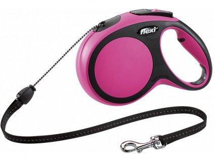 Flexi New Comfort M lanko 8m/20 kg ružové
