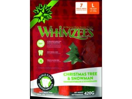 WHIMZEES Dental stix L vianočná edícia 6ks
