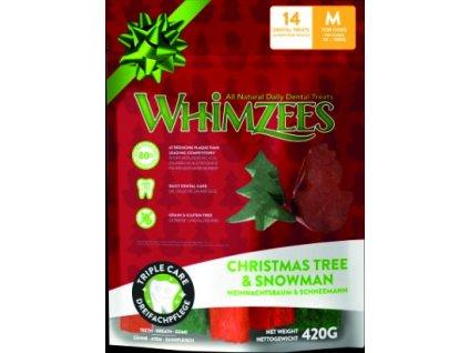 WHIMZEES Dental stix M vianočná edícia 12ks