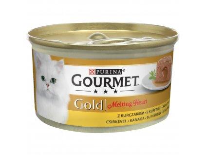 Konzerva GOURMET Gold Melting heart KK pasteta s kuratom 85g