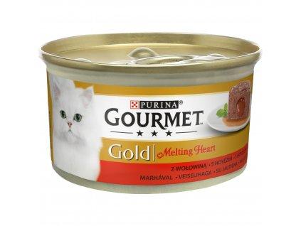 Konzerva GOURMET Gold Melting heart KK paštika s hovadzim 85g