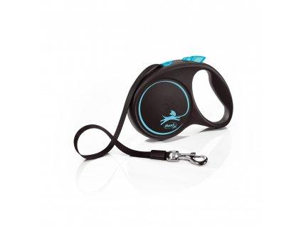 Flexi Black Design M páska 5m/25 kg světle modré