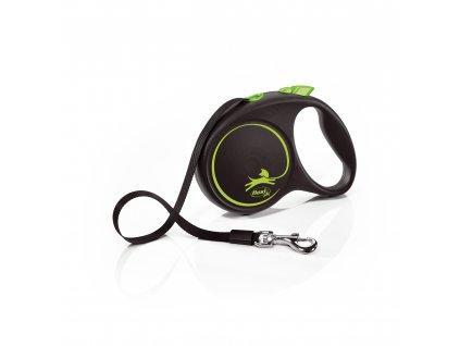 Flexi Black Design M páska 5m/25 kg zelené