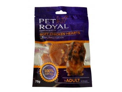 Pet Royal Dog Soft kuracie srdiečka 75g
