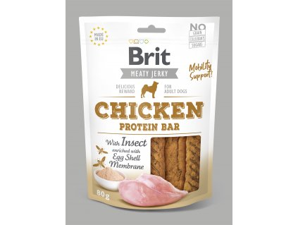 20817 brit jerky chicken with insect protein bar 80 g