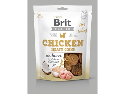 20823 brit jerky chicken with insect meaty coins 200 g