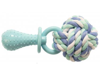 Hračka Gimborn lano bavlna/TPR cumlík 14 cm