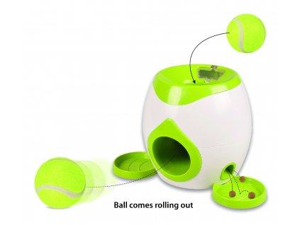 21135 flamingo interaktivna hracka pre psa tenisova lopticka 18cm