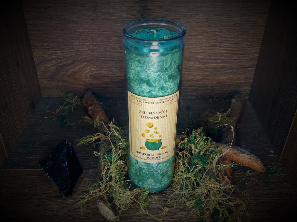Sedmidenní svíce zelená