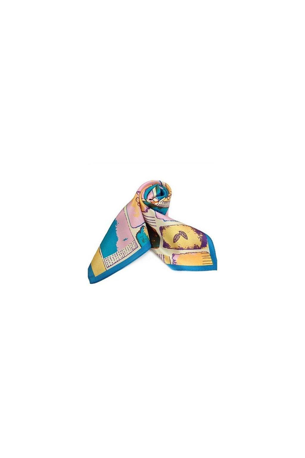 Šátek z hedvábí malý SCM15804