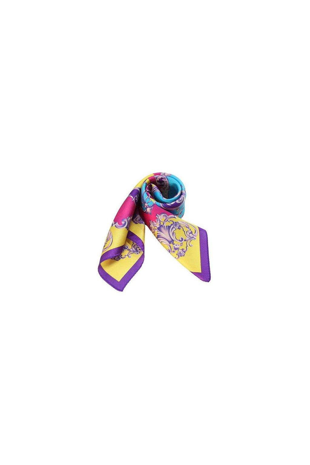 Šátek z hedvábí malý SCM16401