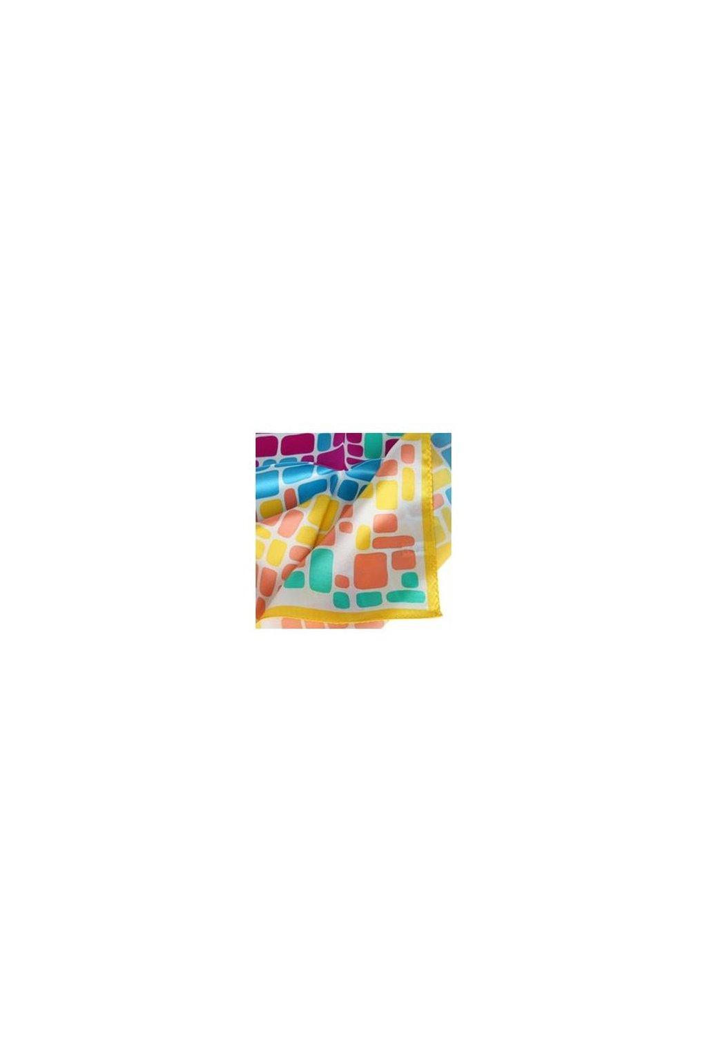 Šátek z hedvábí malý SCM17504