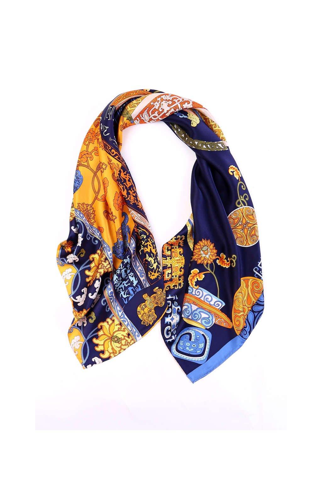 Šátek z hedvábí velký SCV85101