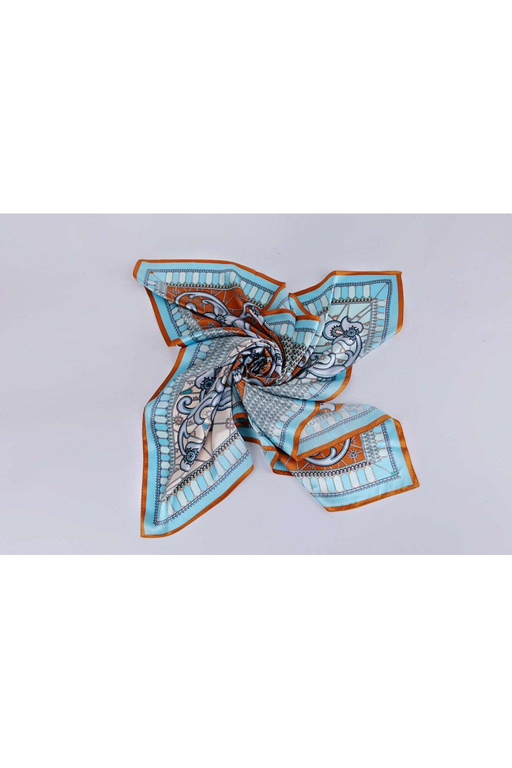 Šátek z hedvábí velký SCV08404
