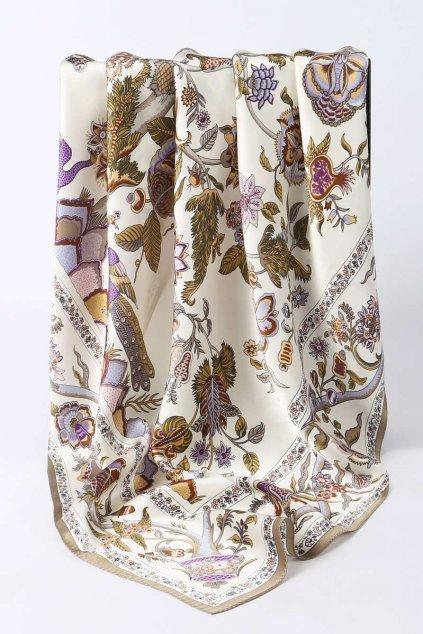 Šátek z hedvábí velký SCV10101