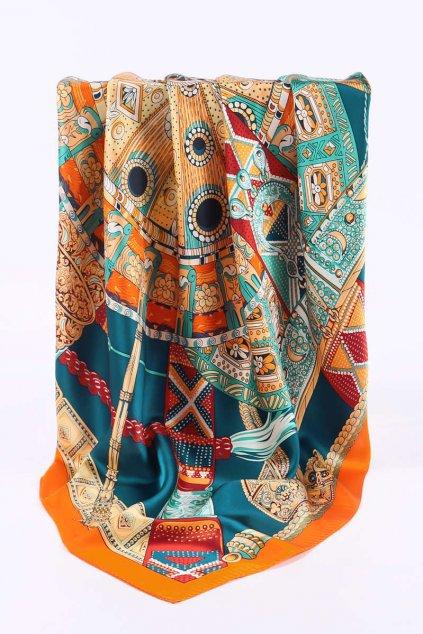 Šátek z hedvábí velký SCV10401