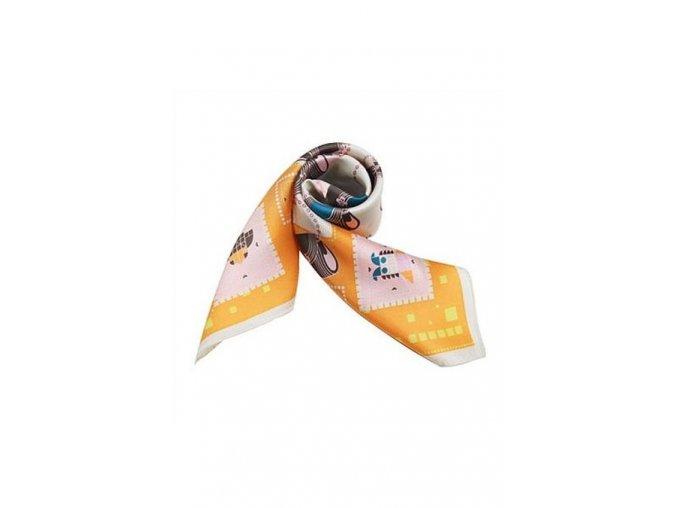 Šátek z hedvábí malý SCM14504