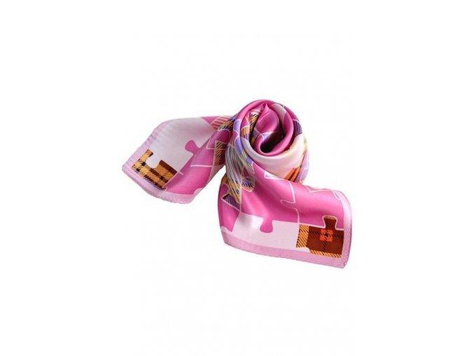 Šátek z hedvábí malý SCM15202
