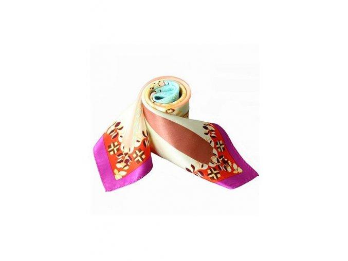 Šátek z hedvábí malý SCM16903