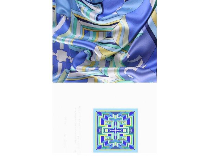 Šátek z hedvábí velký SCV0341