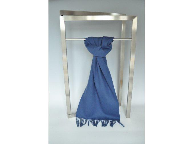 Vlněná šála tmavě modrá IT1367553