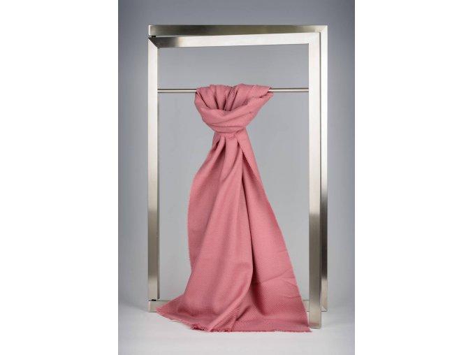 Vlněný šál růžový IT1438151