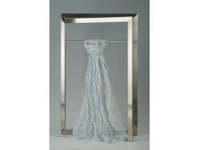 Šála z hedvábí a bavlny s jemnými proužky, plisovaná HBP_32-L