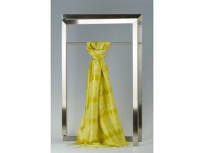 Šála z hedvábí a bavlny s proužky - HBR002
