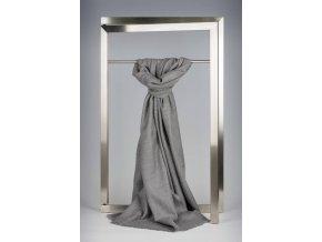Vlněný šál světle šedý IT1434201