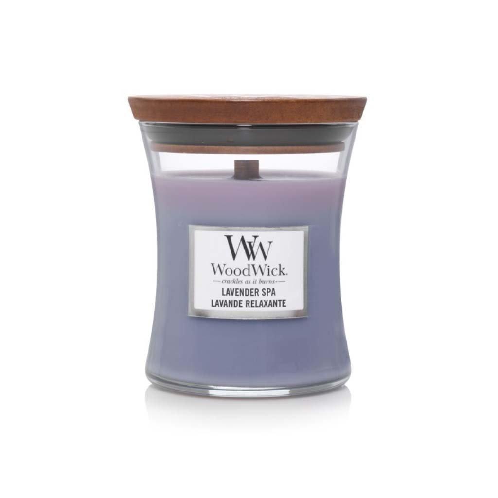 WoodWick - vonná svíčka Lavender Spa (Levandulová lázeň) 275g