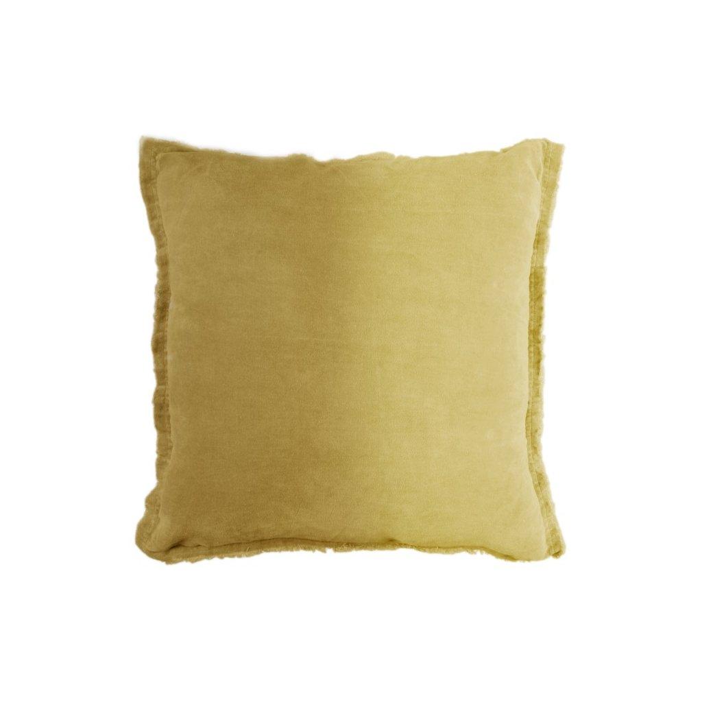 Unique Living - hladký polštář Feline medový 45x45 cm