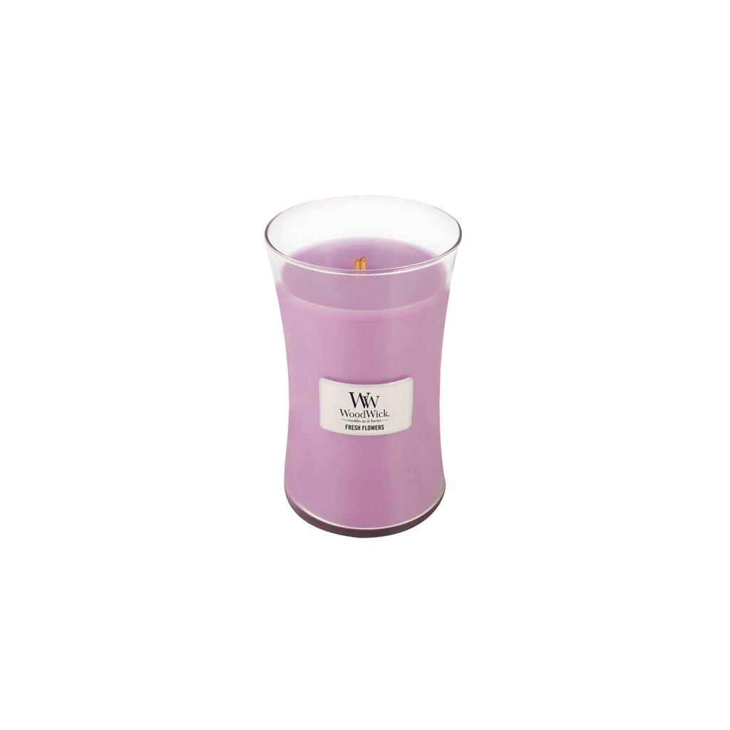 WoodWick - vonná svíčka Čerstvé květiny 609g