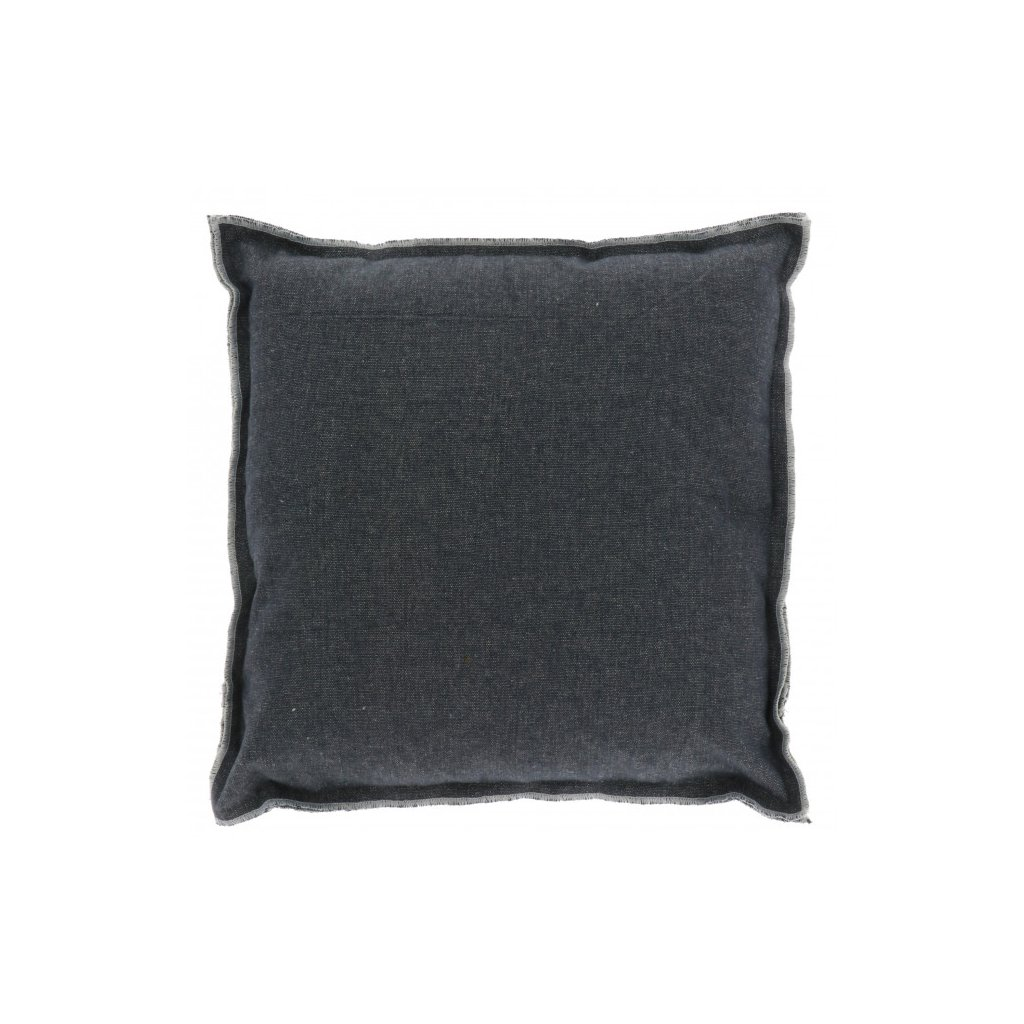 Unique Living - hladký polštář Scandic tmavě šedý 45x45 cm