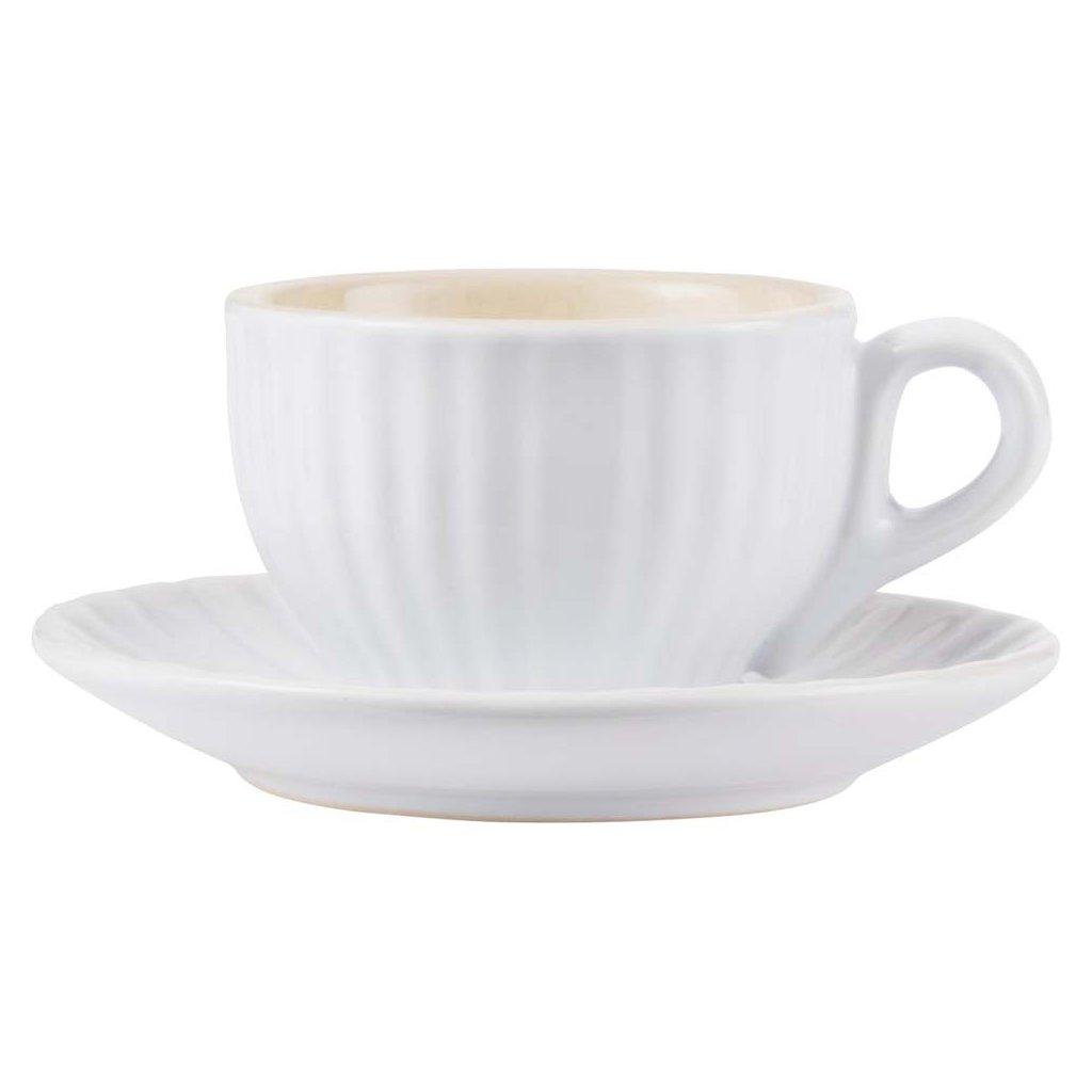 Ib Laursen - šálek s podšálkem na espresso Mynte Pure White 100 ml