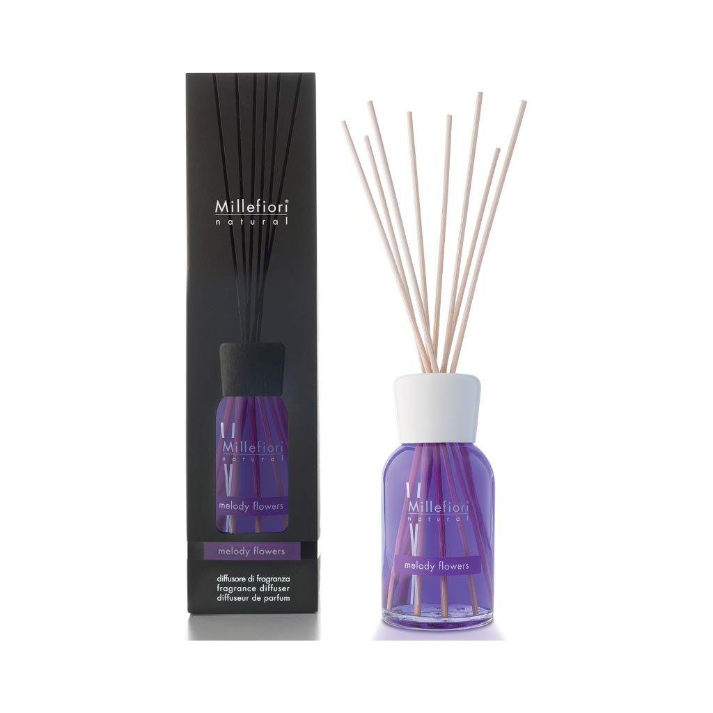 Millefiori Milano - aroma difuzér Melody Flowers, Natural 500 ml
