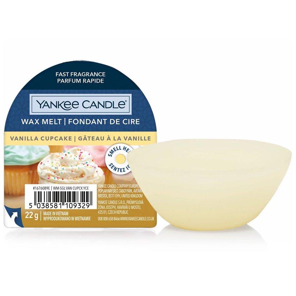 Yankee Candle - vonný vosk Vanilla Cupcake (Vanilkový košíček) 22g