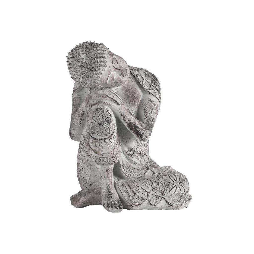 Soška Buddha, betonová dekorace 23 cm