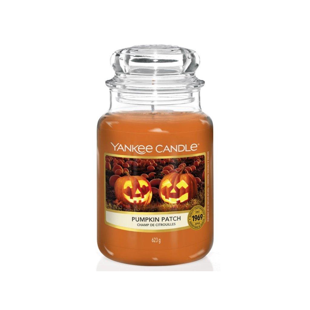 Yankee Candle - vonná svíčka Pumpkin Patch (Dýňové pole) 623g
