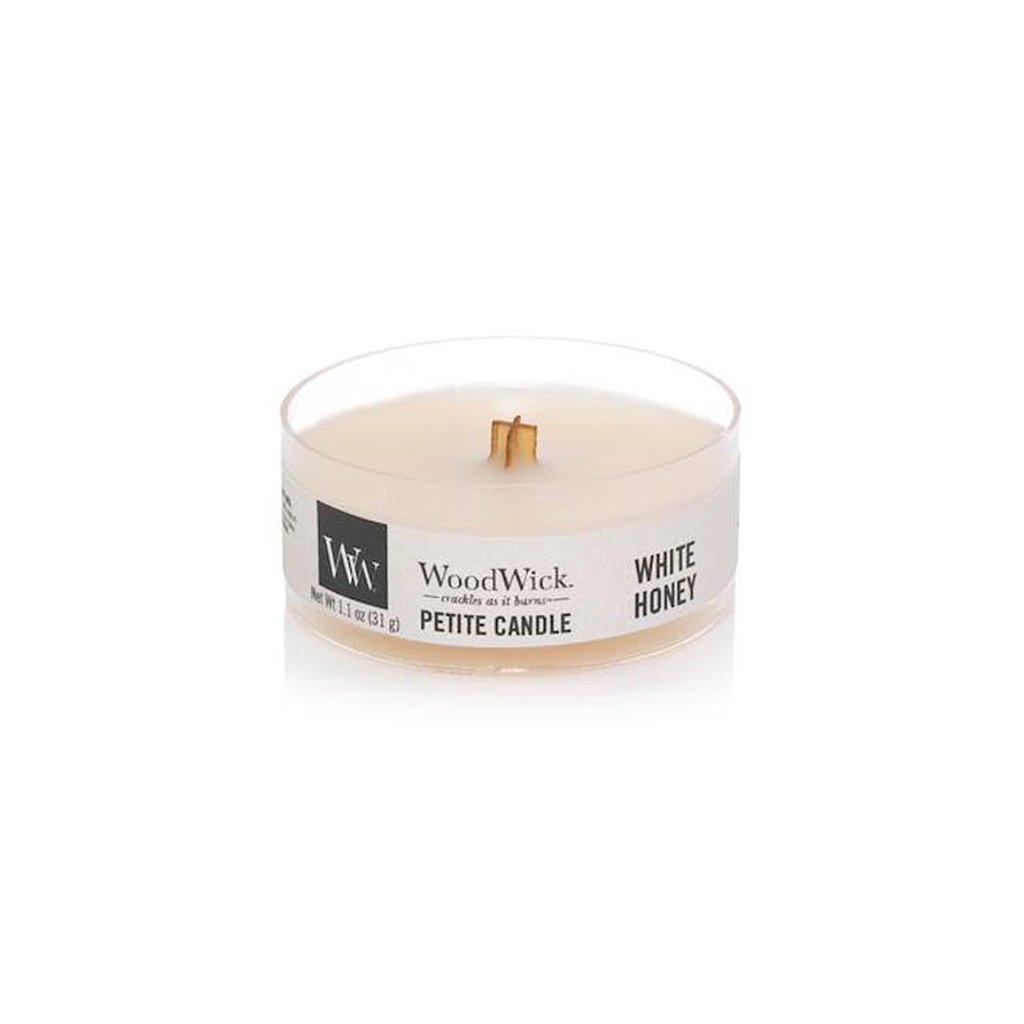 WoodWick - vonná svíčka Petite, White Honey (Bílý med) 31g