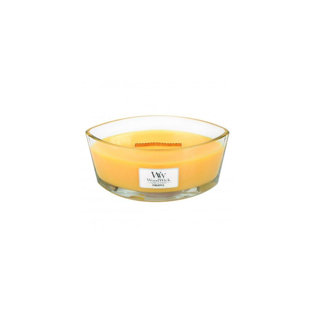 WoodWick - vonná svíčka Ananas, kokos a hruška 453g
