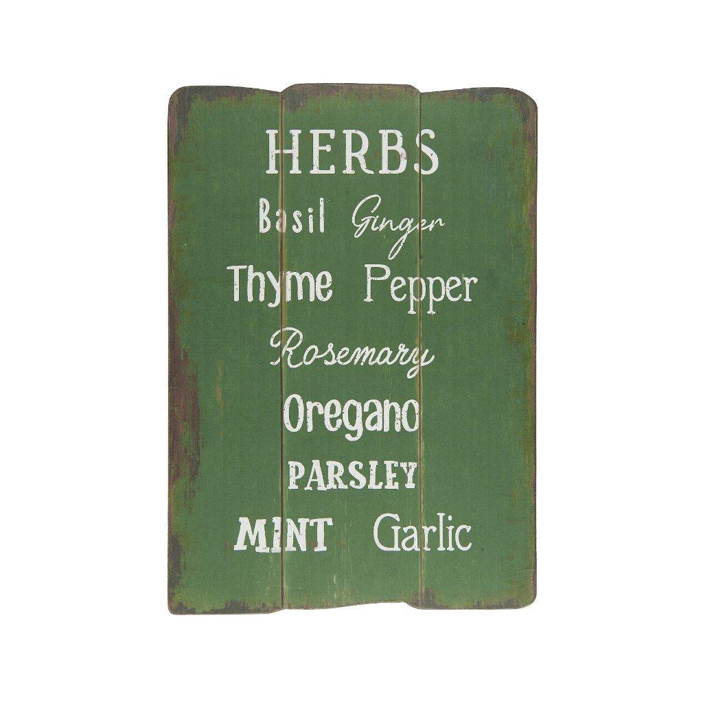 Ib Laursen - dřevěná cedulka Herbs