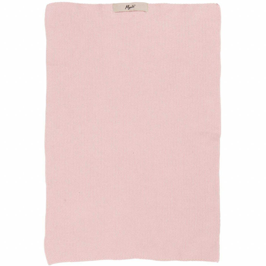 Ib Laursen - pletená bavlněná utěrka Mynte English Rose 40x60 cm