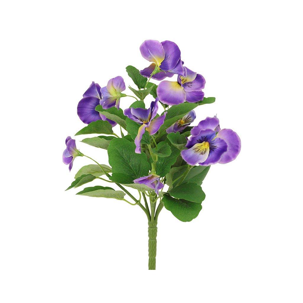 Umělá květina, maceška fialová